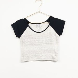 Empyre Super Stretch Soft Raglan Crop Top Sz Small